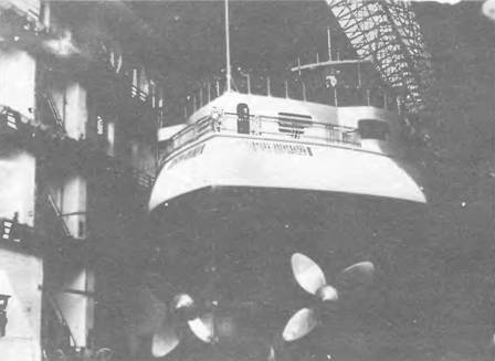 "Корпус ""Императора Александра III"" в эллинге перед спуском на воду."