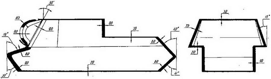 Схема бронирования САУ ИСУ-152