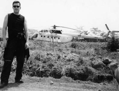 Сьера-Леоне. Март 2005г. Иван Коновалов. Российский вертолёт Ми-8 под флагом ООН