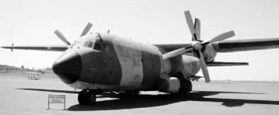 Трансал С 160 франко-германского производства ВВС ЮАР Фото Ян Либенберг