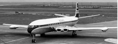 Комета (DH 106 Комета) английского производства. Первый в мире реактивный пассажирский самолёт. Фото из сети Интернет