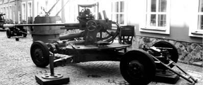 Спаренная зенитная установка В-47 калибра 37 мм. Фото Геннадий Шубин