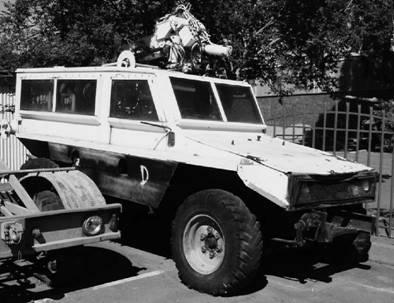 Прототип бронированного защищённого от мин внедорожника Мамба. Фото Ян Либенберг