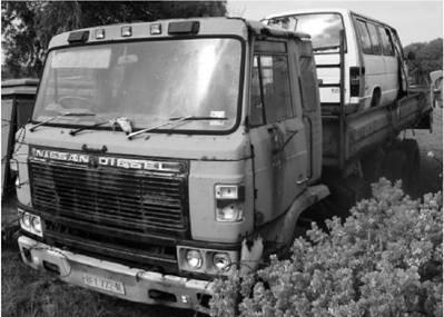 Японский грузовик Ниссан Дизель сухопутных войск ЮАР Фото Геннадий Шубин