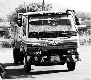 Грузовик Фьюзо (Мицубиси). Танзания. Фото Альберт Хаматшин
