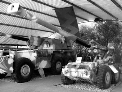 Г-5 дальнобойная гаубица южноафриканского производства. Дальность выстрела — 39км. Фото Геннадий Шубин
