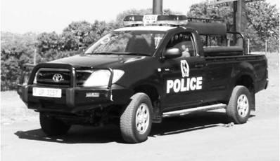 Полицейская Тойота. Уганда. Фото Елена Харитонова