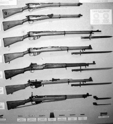 Английские винтовки старые Ли-Метфорд и Ли-Энфилд калибра 7,71 мм (0.303 дюйма). Фото Геннадий Шубин