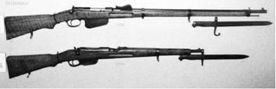 Винтовки Манлихер производства Австро-Венгрии и Австрии калибра 11 мм и 8 мм.