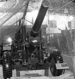 Английская гаубица Г-2 (пять-пять) (пять с половиной дюймов) калибра 140 (144) мм. Дальность выстрела — от 16,4 до 21км (активно-реактивным снарядом). Фото Геннадий Шубин