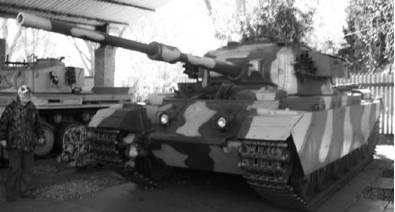 Английский танк Центурион с пушкой калибра 84 мм. Фото Геннадий Шубин