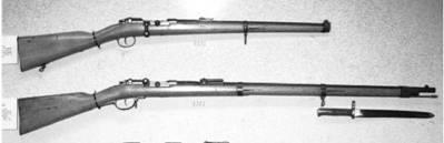 Немецкие карабин и винтовка Маузер калибра 11 мм. Фото ГеннадийШубин
