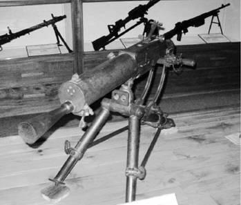 Пулемёт Швартлозе 07/12 производства Австро-Венгрии и Австрии калибра 8 мм. Фото Геннадий Шубин