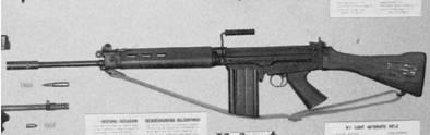 Южноафриканская штурмовая винтовка Р-1 калибра 7,62 мм (патрон 7,62x51 мм) (лицензионный вариант бельгийской штурмовой винтовки ФН ФАЛ). Фото Геннадий Шубин