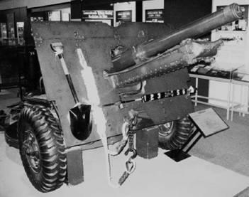 Двадцатипятифунтовка (25 pounder) калибра 86,7 мм английского производства. Фото Геннадий Шубин