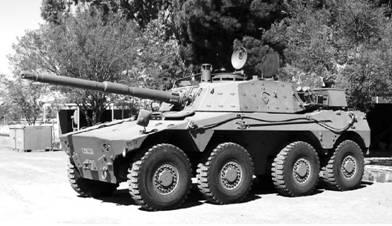 Бронетранспортёр Руикат-76 производства ЮАР Пушка калибра 76 мм. Фото Ян Либенберг