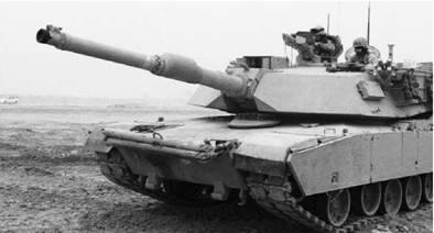 Американский танк М1 Абрамс. Пушка калибра 120 мм. Фото из сети Интернет