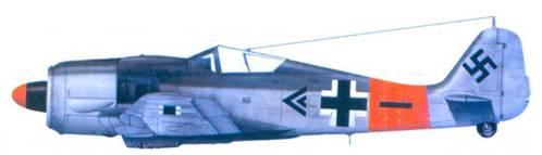 1.Fw 190A-8, капитан Пауль Хайнрих Дэне, февраль 1945 года