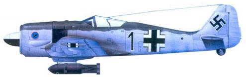 5.Fw 190А-3, капитан Фридрих-Вильгельм Штракельян, июнь 1943 года