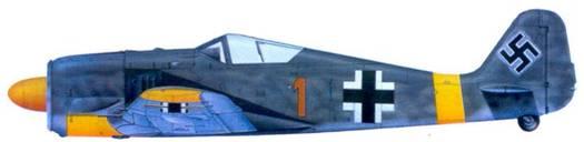 12.Fw 190А-4, обер-фельдфебелть Герберт Баройтер. июнь 1943 года