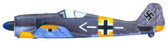 22.Fw 190А-4, майор Губертус фон Бонин (von Bonin), август 1943 года