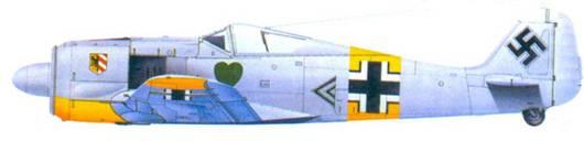 25.FW 190A-4, капитан Ганс Филипп. январь 1943 года