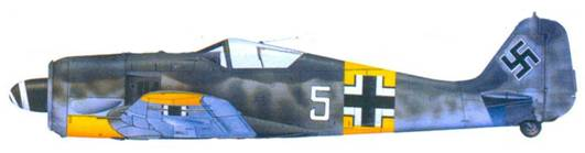 30.Fw 190А-5, обер-лейтенант Вальтер Новотны, июнь 1943 года