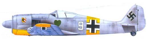 34.Fw 190A-4, фельдфебель Карл Шнёрер. январь 1943 года