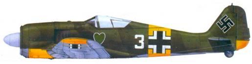 36.Fw 190А-4, фельдфебель Петер бремер. июль 1943 года