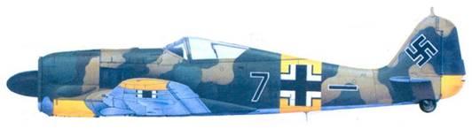 43.Fw 190A-6, лейтенант Эмиль Ланг, лето 1943 года