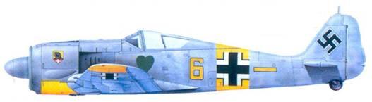 45.Fw 190A-4, обер-лейтенант Ганс Байссвеншер. февраль 1943 года