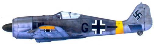 58.Fw 190А-5, обер-фельдфебель Август Ламберт, конец 1943 года