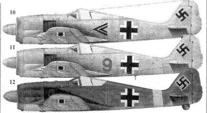 10. Fw 190А-3, «черный двойной шеврон», капитан Рудольф Буш (Busch), командир I./ JG 51, Иван-озеро/Россия, январь 1943 года