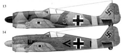 13. Fw 190A-4, «желтая пятерка», лейтенант Йозеф Йенневайн (Jennewein), 3. JG 51, Орел, июнь 1943 года