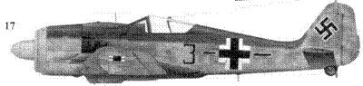 17.Fw 190A-8, «черная тройка с полосой», унтер-офицер Гельмут Ион (Johne), StabsstaffelJG 51, Мемель, ноябрь 1944 года