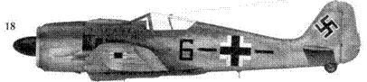 18.Fw 190А-8, «черная шестерка и полоса», обер-фельдфебелъ Фриц Люддеке (Luddecke), Stabsstaffel JG 51, Орша, июль 1944 года