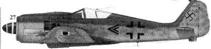 27. Fw 190A-8, «черный двойной шеврон», капитан Франца Айзенаха (Eisenach), командира I./JG 54, Шрунден/Курляндия, ноябрь 1944 года