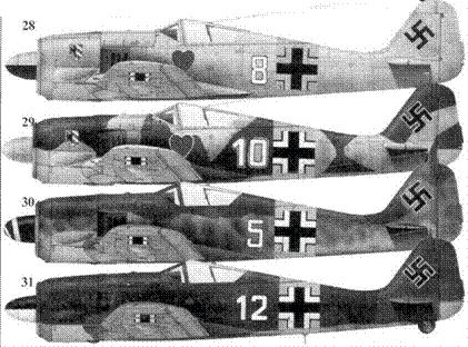 28. Fw 190А-4, «белая восьмерка», лейтенант Вальтер Новотны (Nowotny), командир 1./JG 54, Красногвардейск, ноябрь 1942 года
