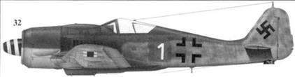 32. Fw 190A-8, «белая единица», лейтенант Хайнц Вернике (Wernicke), командир 1./JG 54, Рига-Скульте/Литеа, сентябрь 1944 года