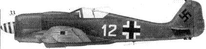33.Fw 190A-8, «белое двенадцать», обер-лейтенант Йозеф Хайнцеллер (Heinzeller), командир 1./JG 54, Шрунден/Курляндия, ноябрь 1944 года