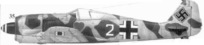 35. Fw 190A-4, «белая двойка», обер-фельдфебель Антон Дёбеле (Doebele), 1./JG 54, Красногвардейск, весна 1943 года