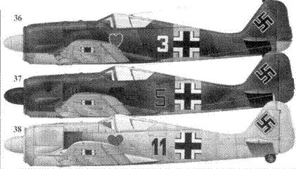 36. Fw 190A-4, «белая тройка», фельдфебель Петер Бремер (Bremer), 1./JG 54, Орел, июль 1943 года