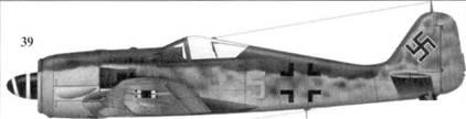 39.Fw 190A-6, «желтая пятерка», обер-лейтенант Отто Киттель (Kind), 3./JG 54, Рига-Скулъте, август 1944 года