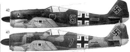 42. Fw 190A-6, «черная пятерка», обер-лейтенант Макс Штотц (Stotz), 5./JG 54, Сиверская, май 1943 года