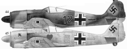 44. Fw 190A-4, «черное двенадцать», фенрих Норберт Ханниг (Hannig), 5./JG 54, Сиверская, май 1943 года