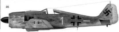 46. Fw 190A-9, «желтая единица», капитан Гельмут Веттштайн (Wettstein), командир 5./JG 54, Липава/Гробин/Курляндия, февраль 1945 года