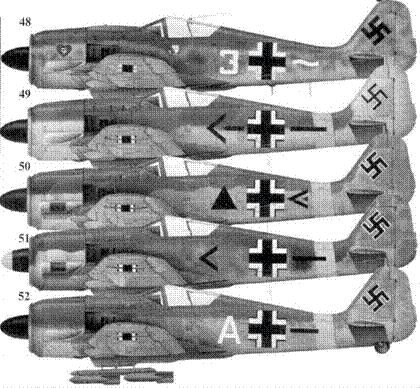 48. Fw 190A-4, «желтая двойка», обер-фельдфебель Генрих Штерр (Sterr), 6./JG 54, март 1943 года