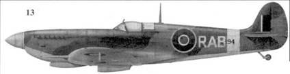 13. «Спитфайр» LF Mk IX «ML294/RAB» командира 132-го авиакрыла уинг-коммендера Рольфа Берга, 2-я тактическая воздушная армия, Гримберген, Бельгия, декабрь 1944г.