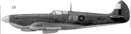 15. «Спитфайр» LF Mk VIII «MD371/FB» командира 239-го авиакрыла гроуп-кэптена Роберта Бойда, Байгачи, Индия, 1944г.