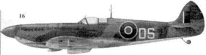 16. «Спитфайр» LF Mk IX «MH884/DS» командира 324-го авиакрыла гроуп-кэптена Уилвреда Дункан-Смита, Кальви, Корсика, август 1944г.